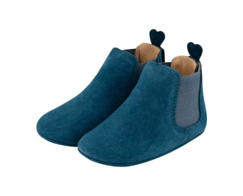 Krabbelschuh Carponi Emma Blue Ocean Chelsea Boot Front
