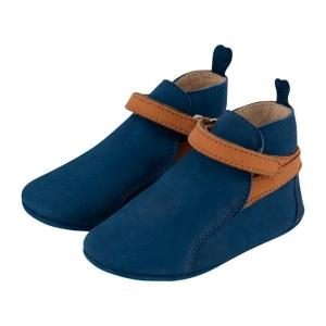 Krabbelschuh Carponi Greta Blue Ocean Straps Boot Jodhpur Front
