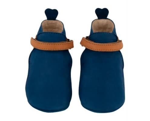 Krabbelschuh Carponi Greta Blue Ocean Straps Boot Front