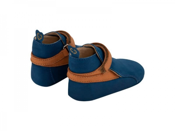 Krabbelschuh Carponi Greta Blue Ocean Straps Boot Back