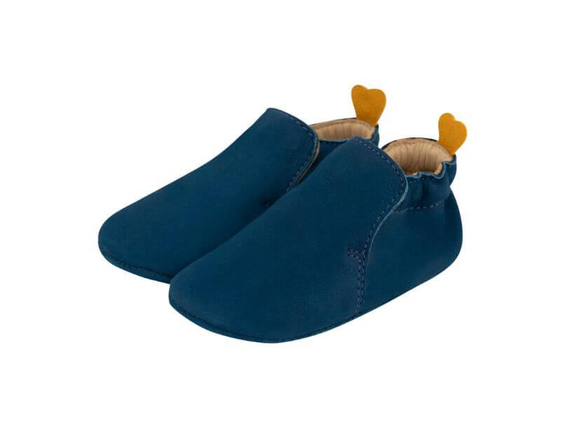 Krabbelschuh Carponi Jamie Blue Ocean Slipper Front