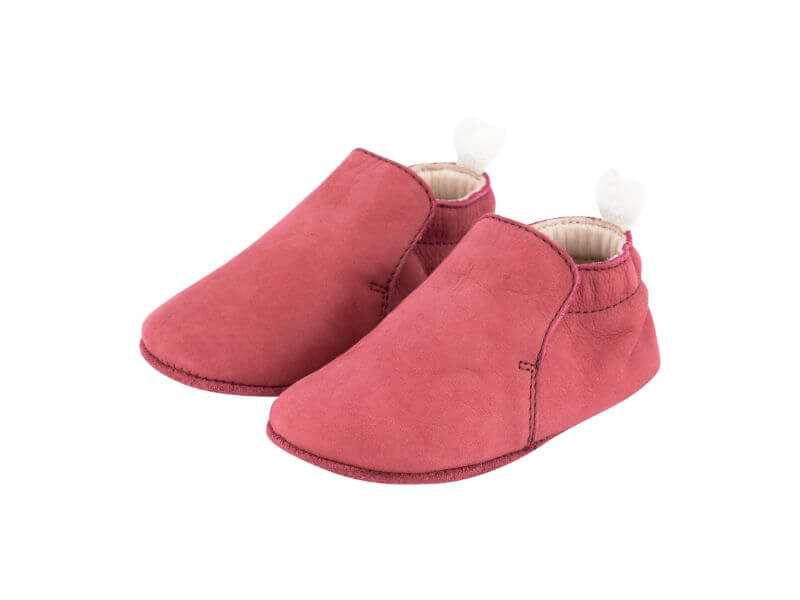 Krabbelschuh Carponi Jamie Rio Red Slipper Front