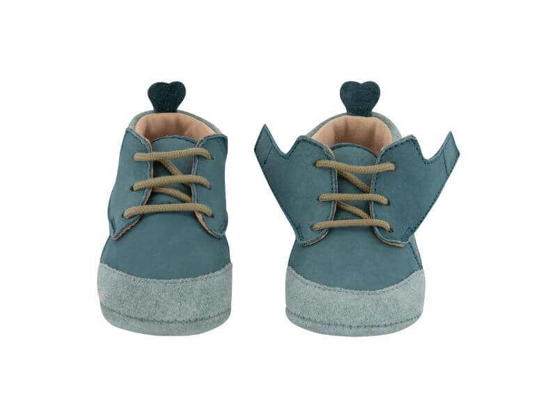 Krabbelschuh Carponi Lu Emerald Pool Boots Front Open